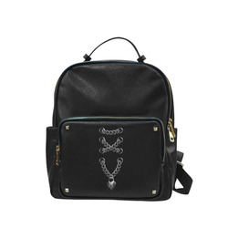 Silver Chain Lock Lacing Love Heart s Campus backpack/Large (Model 1650)