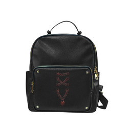 Chain Lock Lacing Love Heart s Campus backpack/Large (Model 1650)