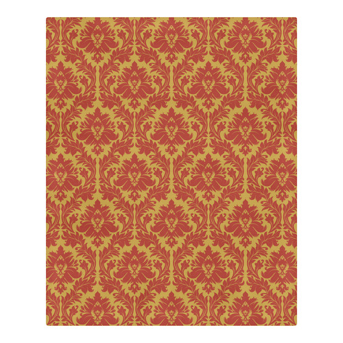 autumn fall colors yellow red damask pattern 3-Piece Bedding Set