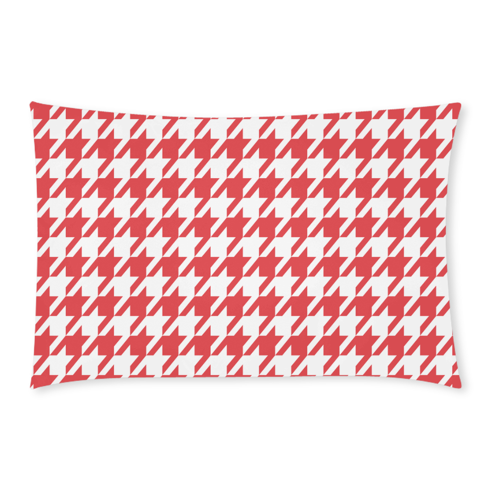 red and white houndstooth classic pattern 3-Piece Bedding Set