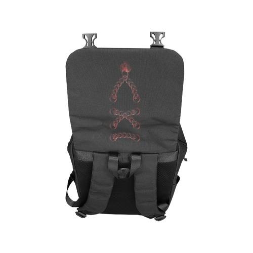 Chain Lock Lacing Love Heart s Casual Shoulders Backpack (Model 1623)