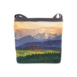Mountain Meadow Low Poly Landscape Crossbody Bags (Model 1613)