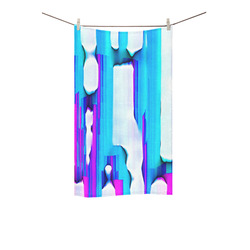 """Blue watercolors Custom Towel 16""""x28"""""""