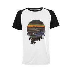 Night Walk Men's Raglan T-shirt (USA Size) (Model T11)