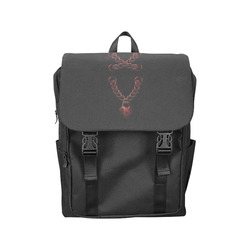 Chain Lock Lacing Love Heart s Casual Shoulders Backpack (Model 1623)