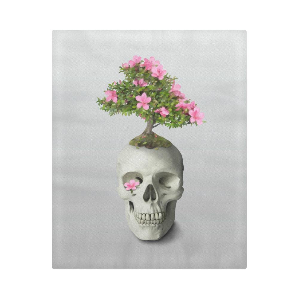 """Bonsai Skull Duvet Cover 86""""x70"""" ( All-over-print)"""