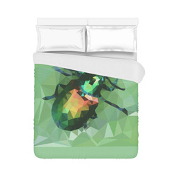 """Pretty green bug, Low poly dogbane beetle Duvet Cover 86""""x70"""" ( All-over-print)"""