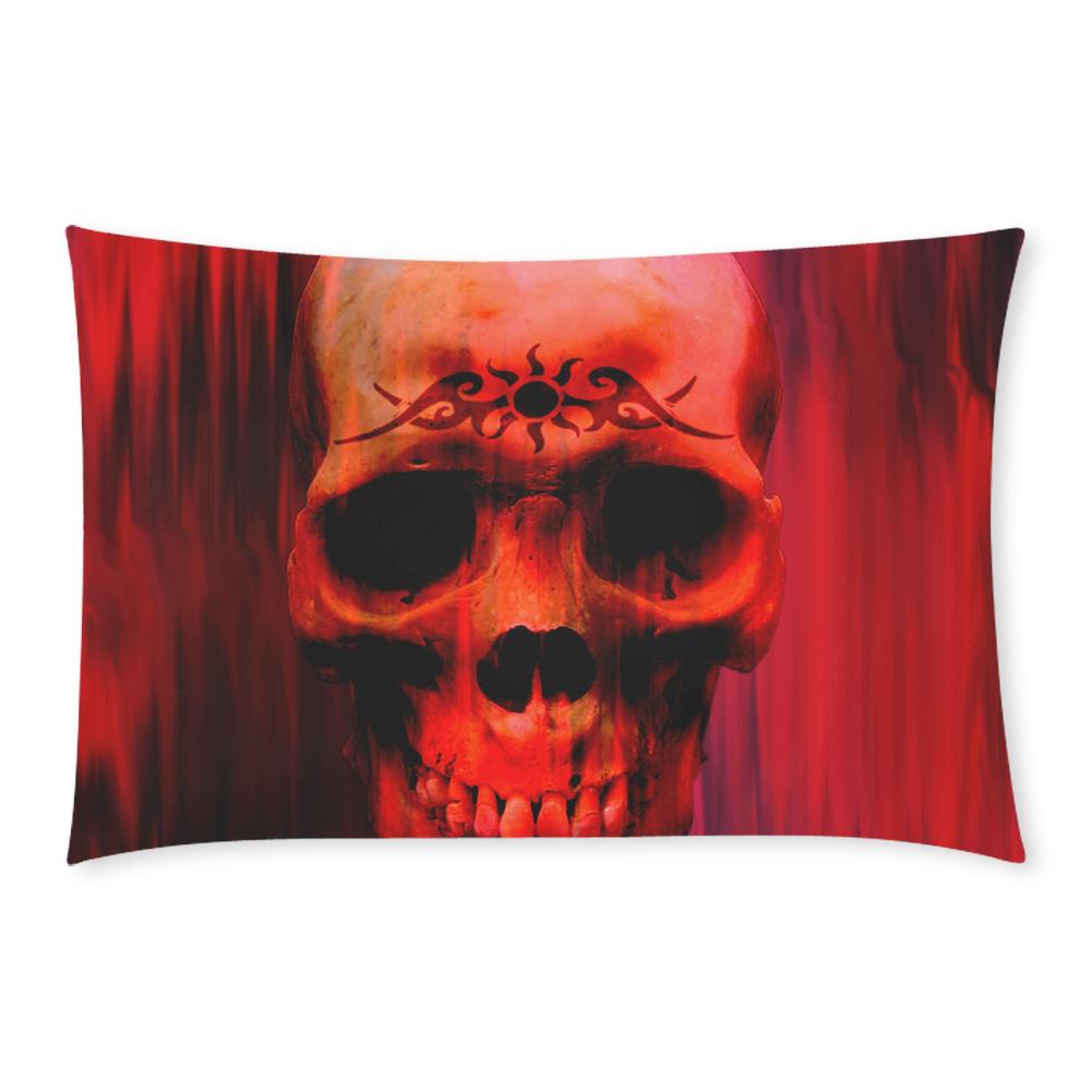 Red tribal skull 3-Piece Bedding Set