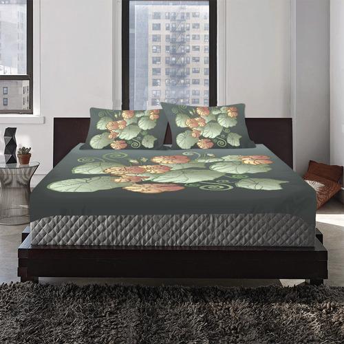 Art Nouveau Garden 3-Piece Bedding Set