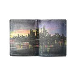 City Lights Men's Leather Wallet (Model 1612)