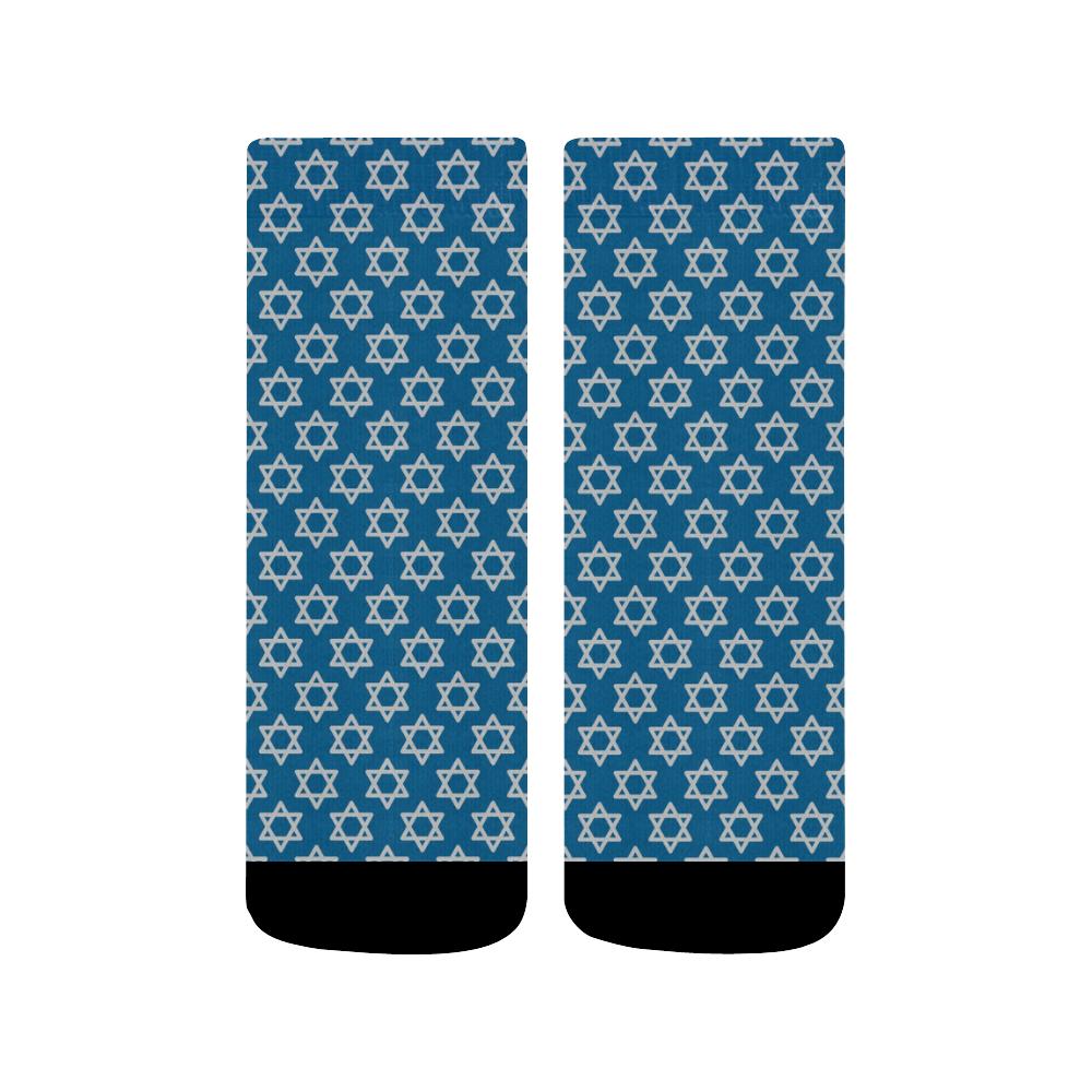 Hanukkah Star of David, Jewish Star (2) Quarter Socks