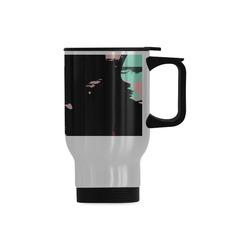 Retro colors texture Travel Mug (Silver) (14 Oz)