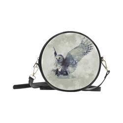 Wonderful owl, watercolor Round Sling Bag (Model 1647)
