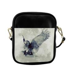 Wonderful owl, watercolor Sling Bag (Model 1627)