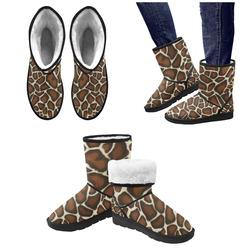Giraffe Spots Custom High Top Unisex Snow Boots (Model 047)