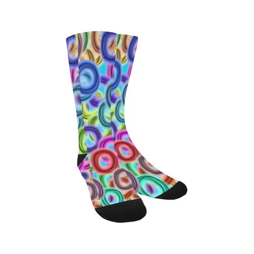 Colorful ovals Trouser Socks