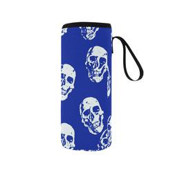 Hot Skulls,white by JamColors Neoprene Water Bottle Pouch/Medium