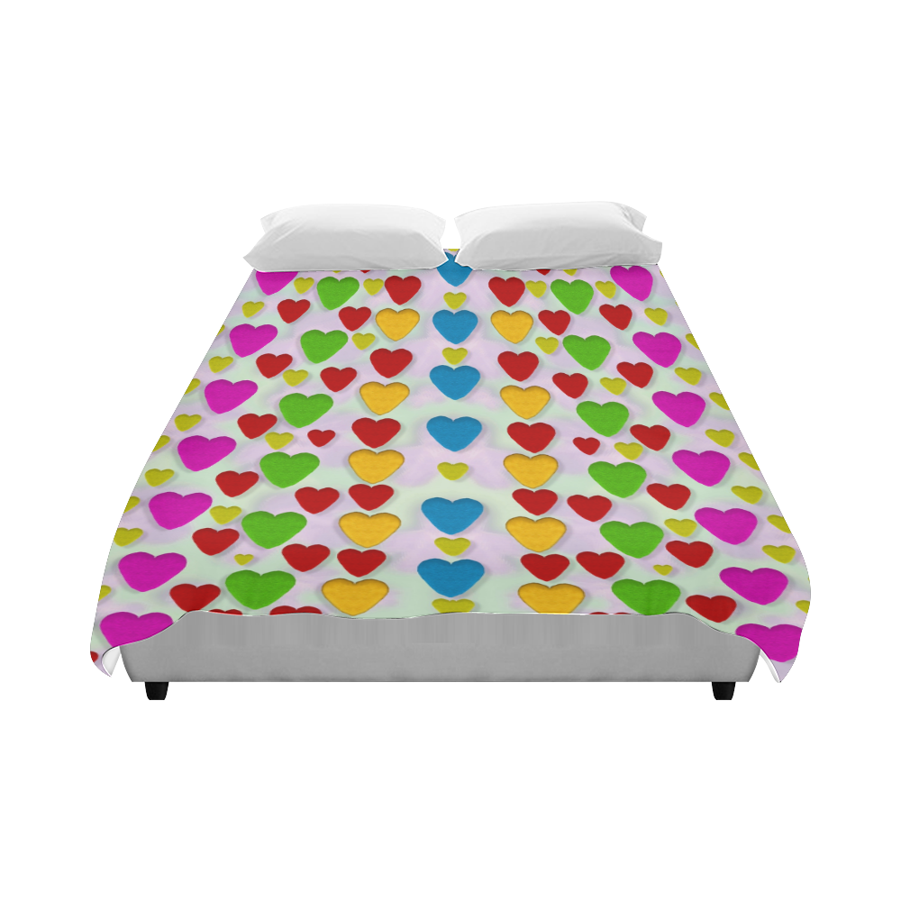 """So sweet and hearty as love can be Duvet Cover 86""""x70"""" ( All-over-print)"""