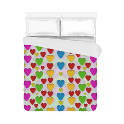 "So sweet and hearty as love can be Duvet Cover 86""x70"" ( All-over-print)"