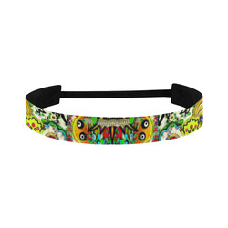Chicken monkeys smile in the hot floral nature Sports Headband