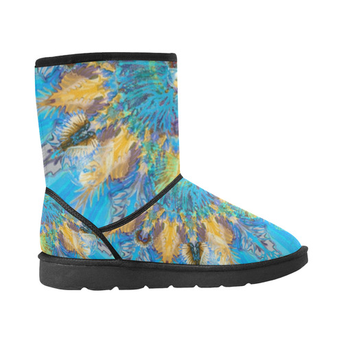 life colors 7v Custom High Top Unisex Snow Boots (Model 047)