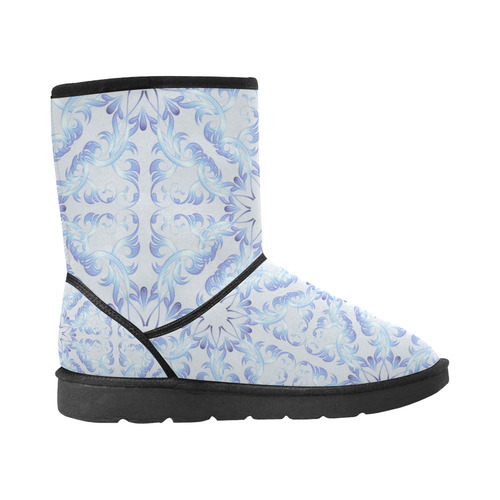 Baroque style pattern. Christmas motif. Custom High Top Unisex Snow Boots (Model 047)