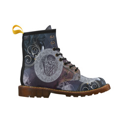 Amazing skeleton High Grade PU Leather Martin Boots For Men Model 402H