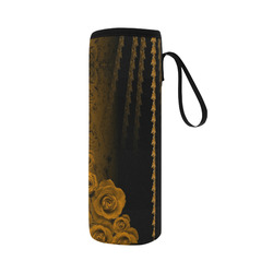 rose 2 gold Neoprene Water Bottle Pouch/Large