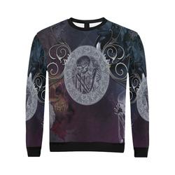 Amazing skeleton All Over Print Crewneck Sweatshirt for Men/Large (Model H18)