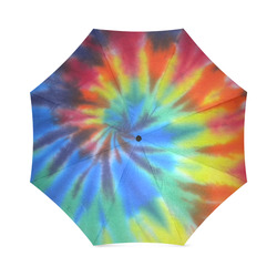 Umbrella Tie Dye Mult-Colored Rainbow Pattern by Tell3People Foldable Umbrella (Model U01)