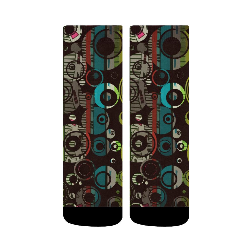 Circles texture Crew Socks