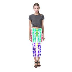 Colorful stripes Capri Legging (Model L02)