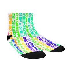 Colorful stripes Quarter Socks