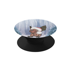 Christmas, cute little piglet with christmas hat Air Smart Phone Holder