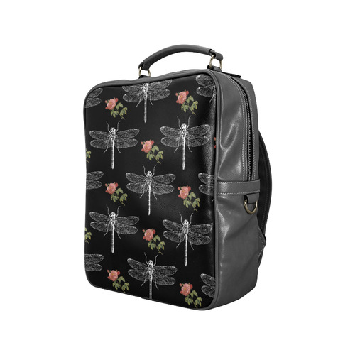 Dragonflies and Roses Square Backpack (Model 1618)