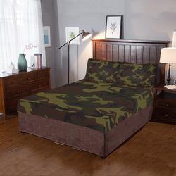 Camo Green Brown 3-Piece Bedding Set