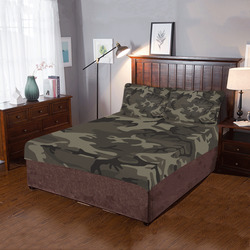 Camo Grey 3-Piece Bedding Set