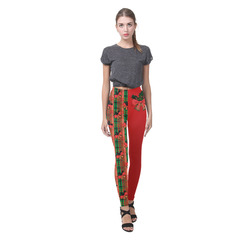 xmas plaid pattern Cassandra Women's Leggings (Model L01)