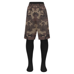 Camo Red Brown Men's Swim Trunk (Model L21)