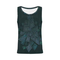 3D Psychedelic Abstract Square Explosion All Over Print Tank Top for Women (Model T43)