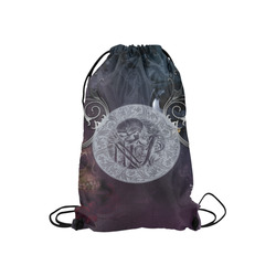 "Amazing skeleton Small Drawstring Bag Model 1604 (Twin Sides) 11""(W) * 17.7""(H)"