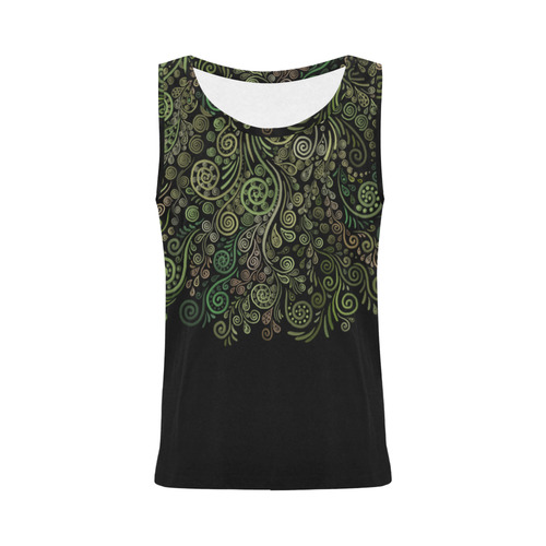 3D Psychedelic Ornaments Fantasy Tree All Over Print Tank Top for Women (Model T43)