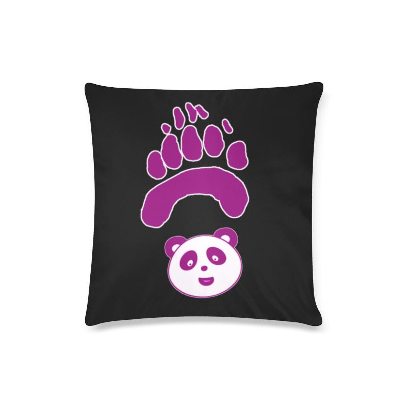 "panda paw face pink Custom Zippered Pillow Case 16""x16""(Twin Sides)"