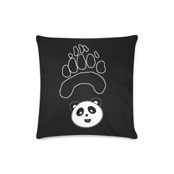 "panda paw face Custom Zippered Pillow Case 16""x16""(Twin Sides)"