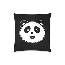 "panda Custom Zippered Pillow Case 16""x16""(Twin Sides)"