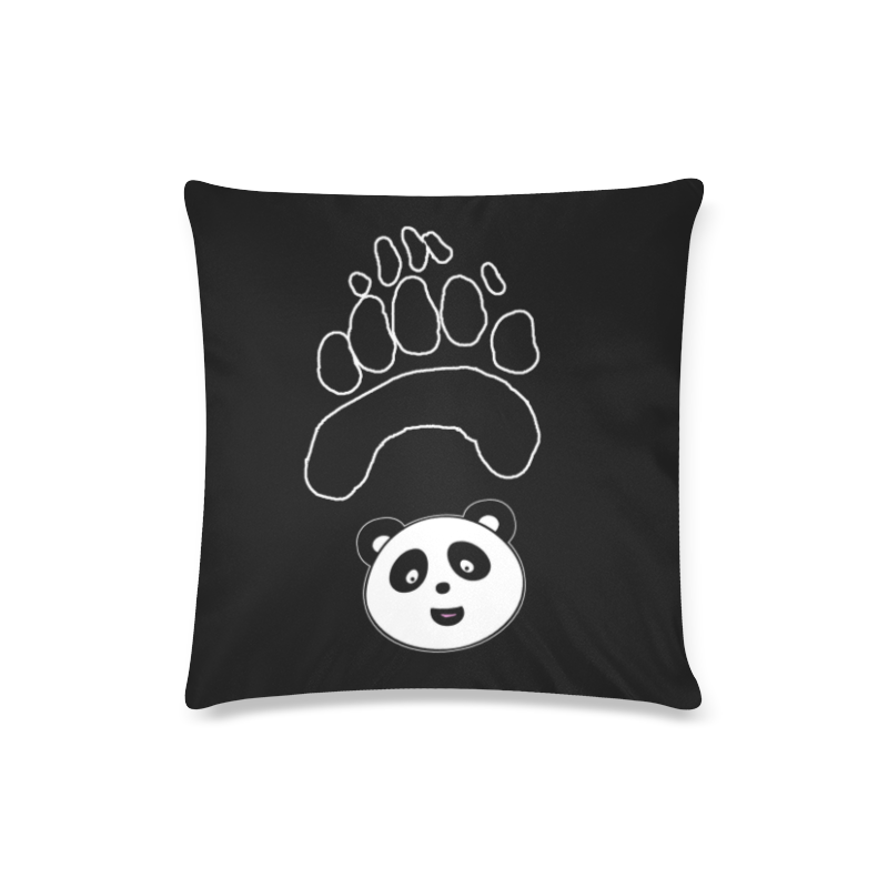 "panda paw face Custom Zippered Pillow Case 16""x16""(Twin Sides)"