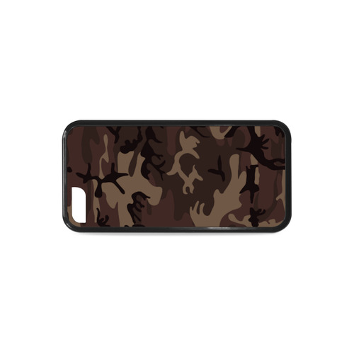 Camo Red Brown Rubber Case for iPhone 5c