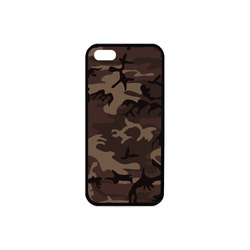 Camo Red Brown Rubber Case for iPhone 5/5s
