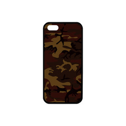 Camo Dark Brown Rubber Case for iPhone 5/5s