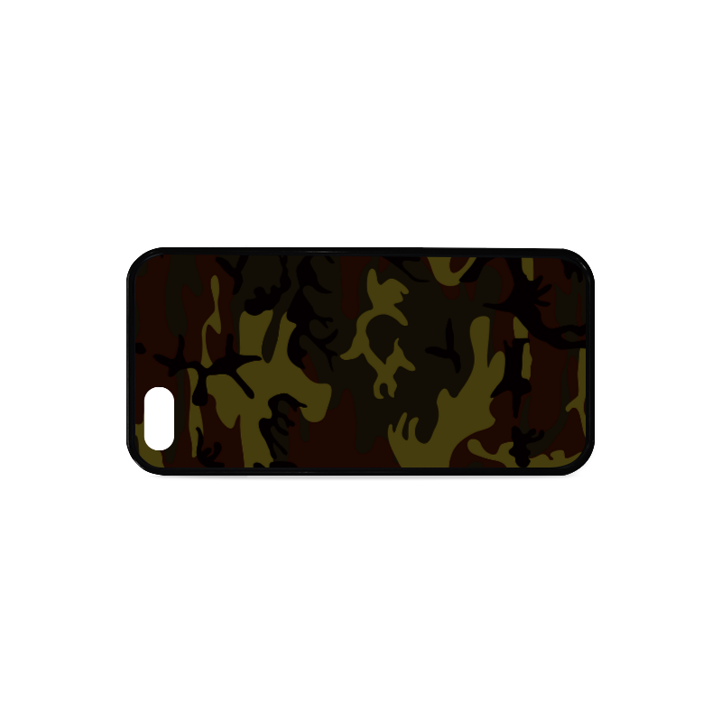 Camo Green Brown Rubber Case for iPhone 5/5s